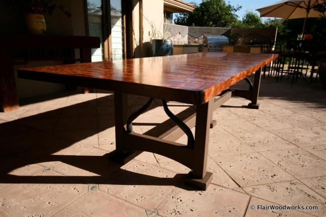 Bubinga Table End