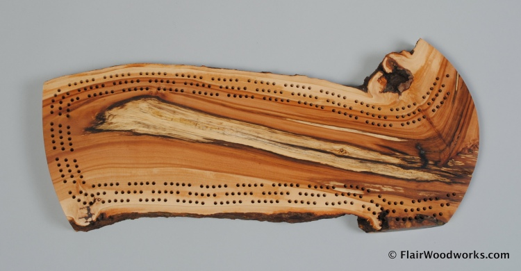 Apple Cribbage Board II Top