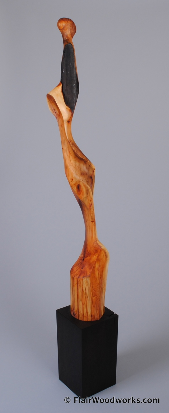 Yew Sculpture Back
