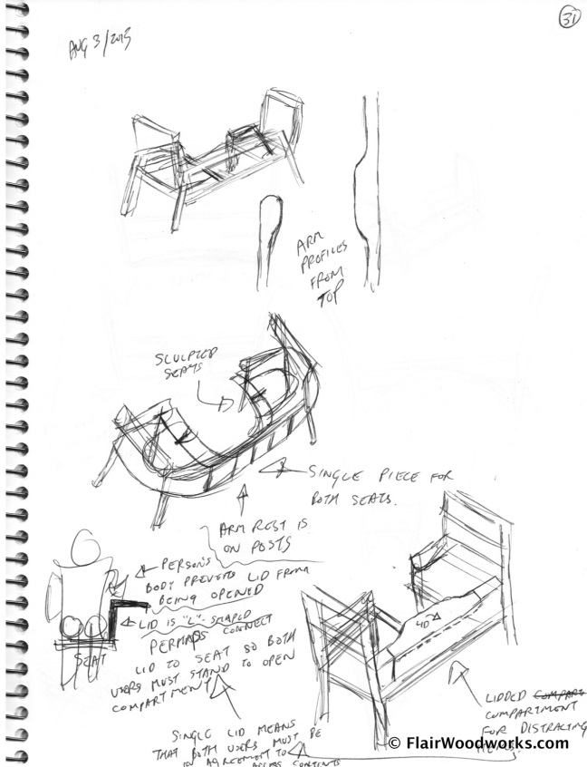 Conversation Chair Sketches page2