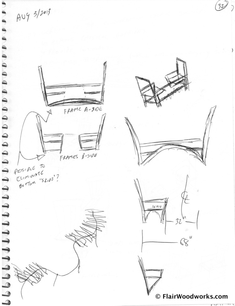 Conversation Chair Sketches page3