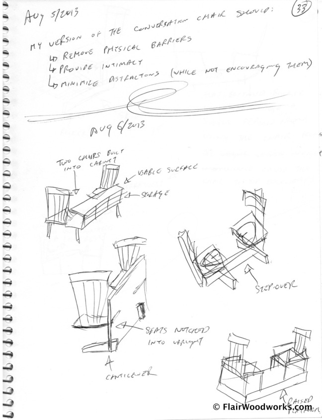 Conversation Chair Sketches page4
