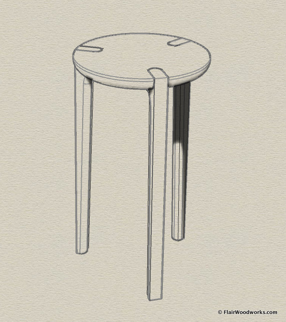 Simple Stool Perspective