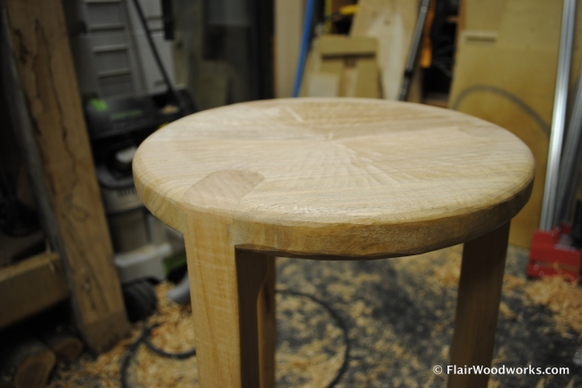 Shop Stool Seat Detail