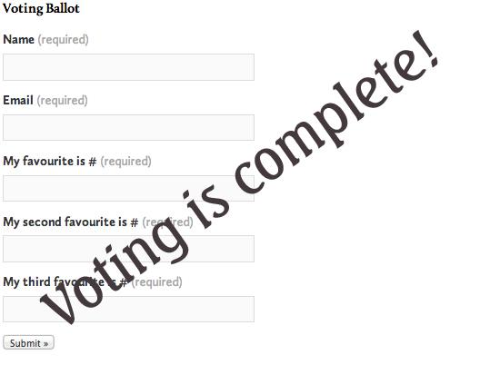 SSBO Voting Ballot