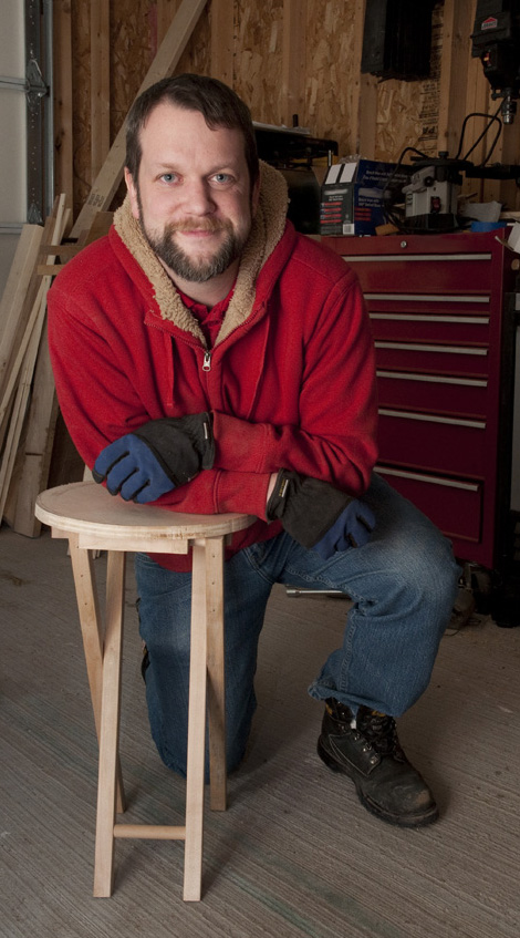 Chris Salter with Shop Stool