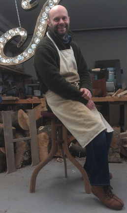 Jamie Hubbard with Shop Stool