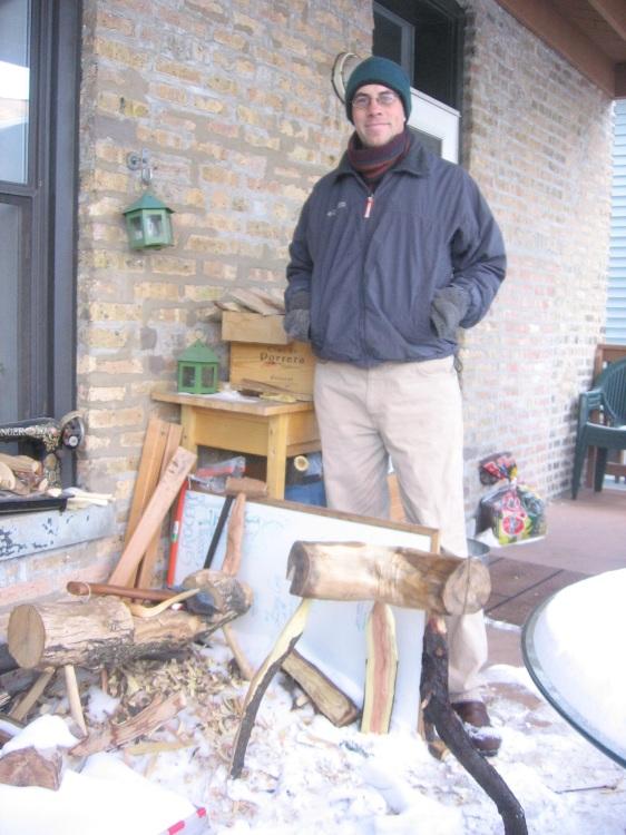Jonathan Gunderlach with Shop Stool