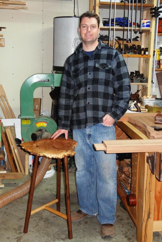 Ryan Sparreboom with Shop Stool