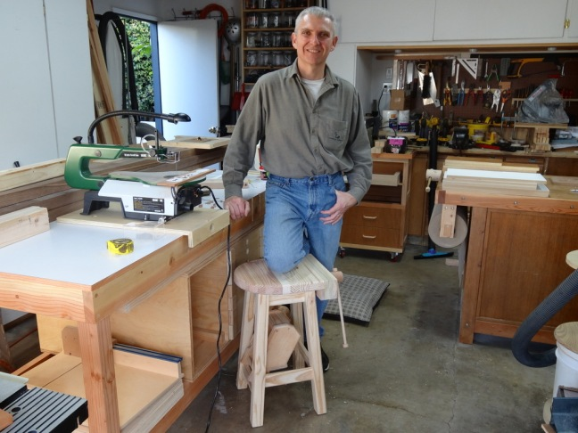 Trevor Green with Shop Stool