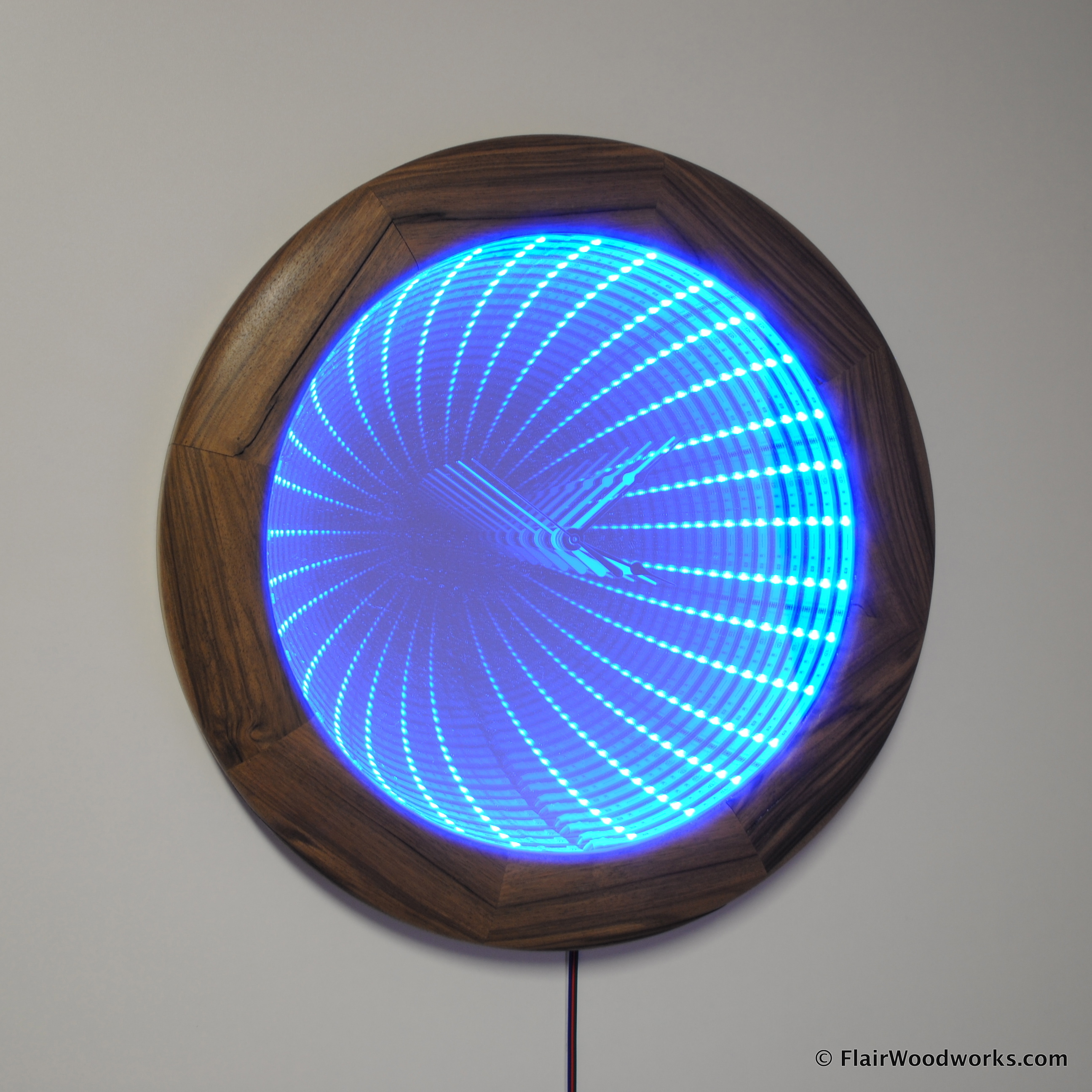 Infinity Mirror Clock Flair Woodworks
