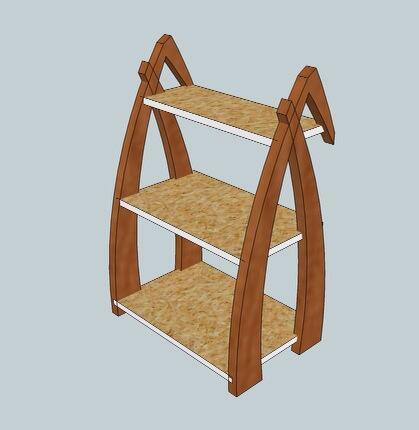 Shelf design by Christopher Bowen