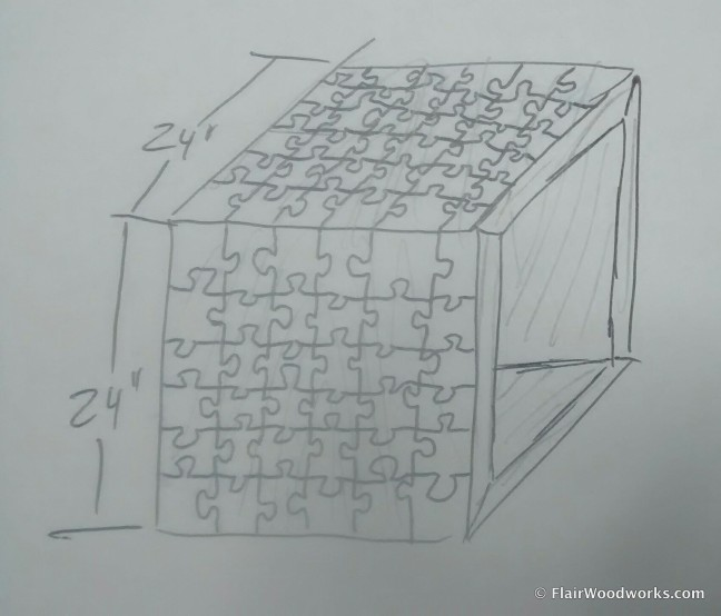 Puzzle Table Sketch