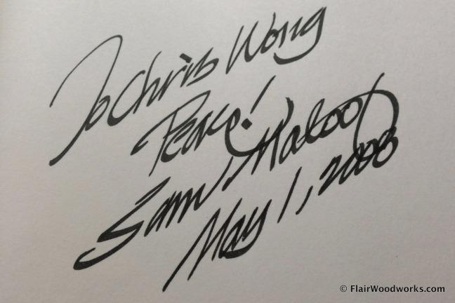 Sam Maloof Autograph