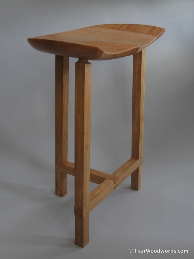 Sculpted Seat Stool Front Right