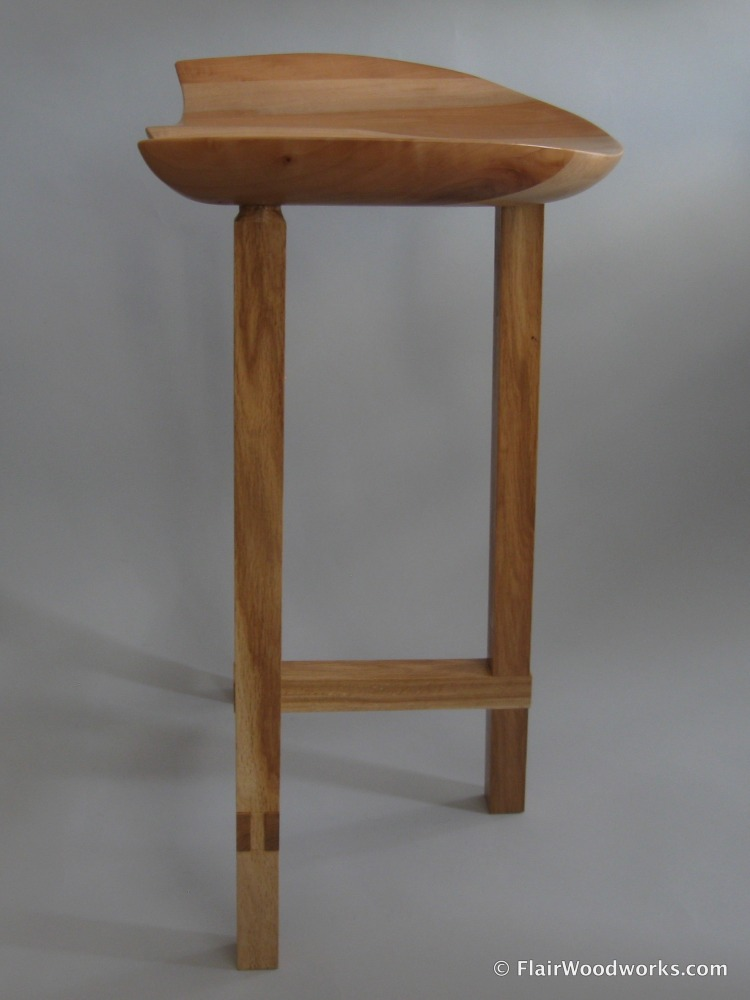 Sculpted Seat Stool Left