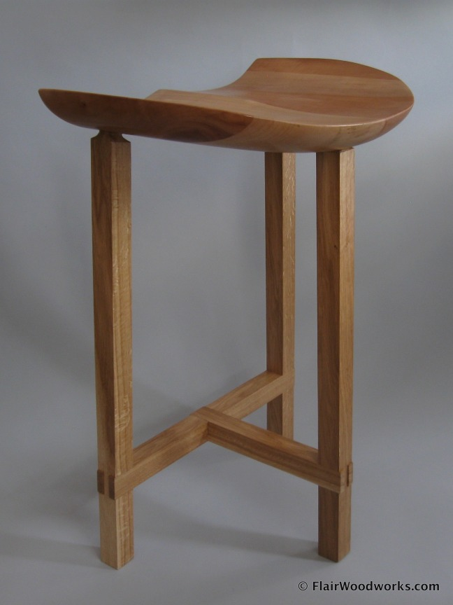 Sulpted Stool Stool Back Left