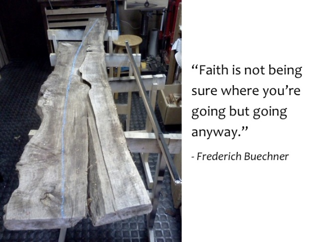 Faith is not being sure where you are going but going anyway. Frederich Buechner