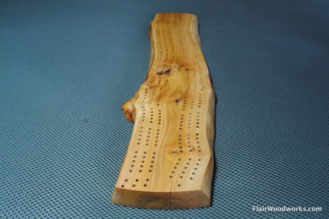 4 Live Edge Cribbage Board 22 Start Finish