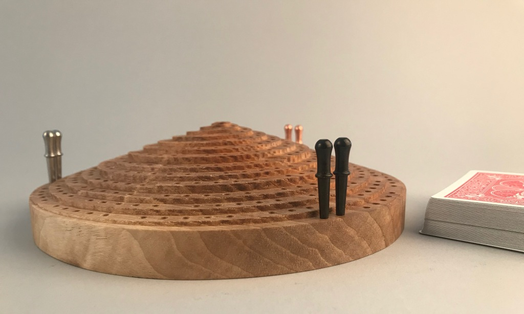 Apex Sculptural Cribbage Board