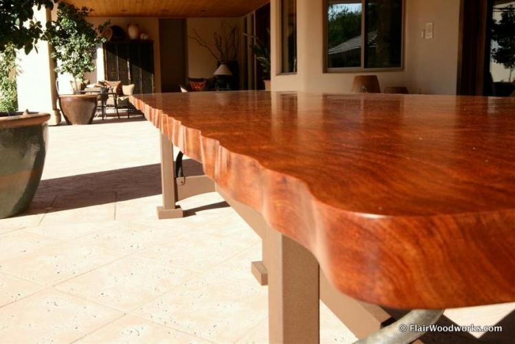 Bubinga Table Edge
